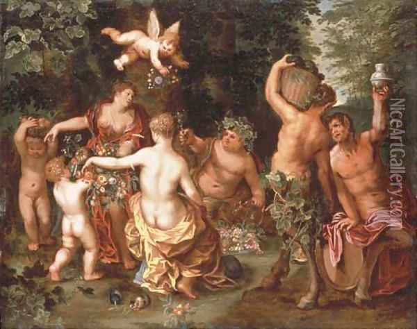 An Allegory of Abundance Oil Painting - Jan Brueghel the Younger