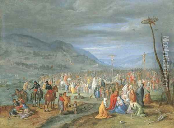 Calvary Oil Painting - Jan Brueghel the Younger