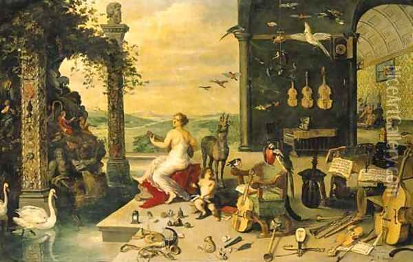 The Sense of Hearing Oil Painting - Jan Brueghel the Younger