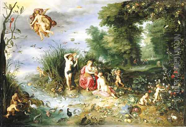 An Allegory of the Four Elements Oil Painting - Jan Brueghel the Younger