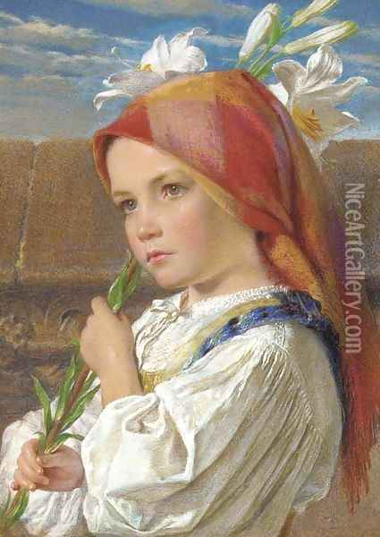 Sunday Morning Oil Painting - Frederic William Burton