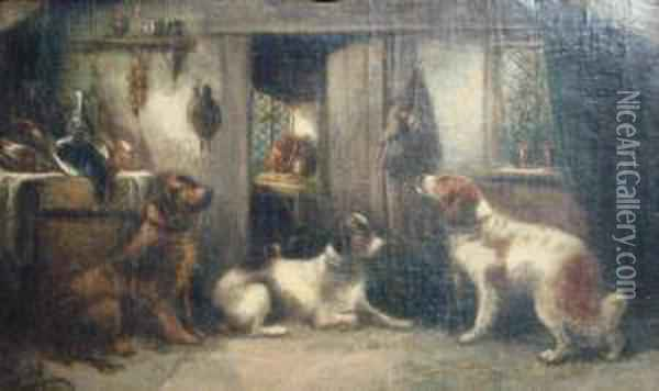 Waiting For The Master Oil Painting - George Armfield
