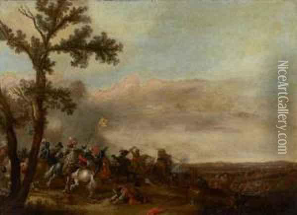Battle Scene Oil Painting - Jan Asselyn
