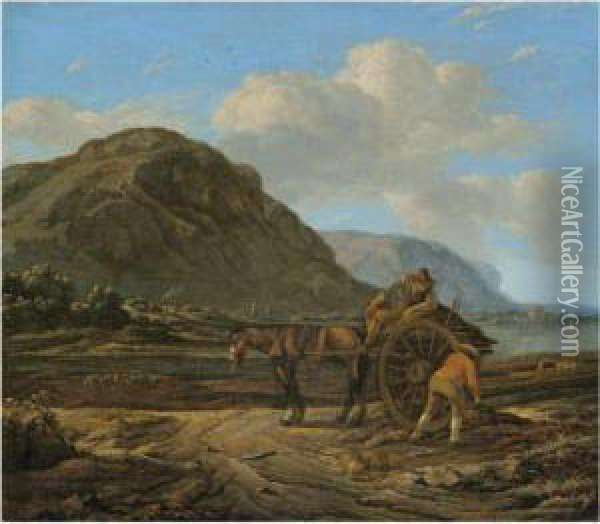 A Landscape With A Horse And 
