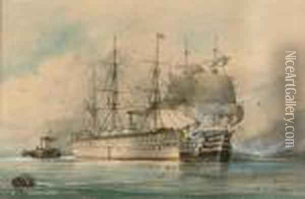 Sail And Steam Oil Painting - William Edward Atkins