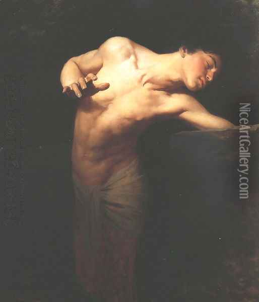 Narcissus, 1881 Oil Painting - Gyula Benczur