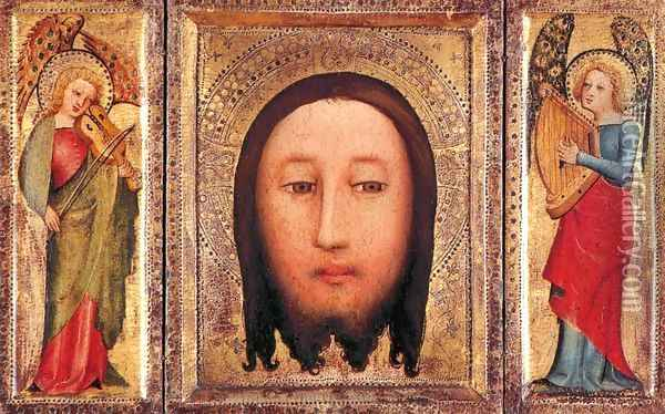 Triptych The Holy Visage of Christ Oil Painting - (Master of Minden) Bertram