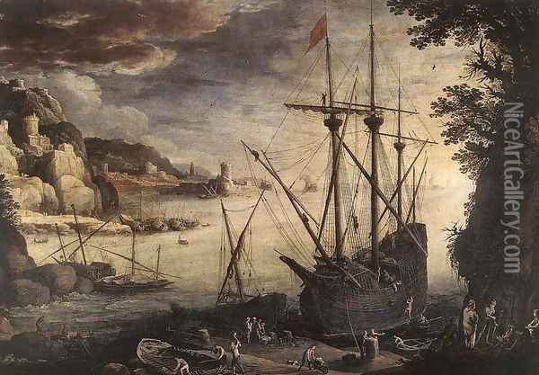The Port Oil Painting - Paul Bril
