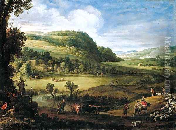 An Extensive Landscape Oil Painting - Paul Bril