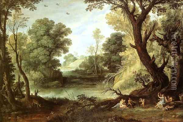 Landscape with Nymphs and Satyrs Oil Painting - Paul Bril