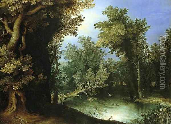 Landscape with a Marsh Oil Painting - Paul Bril