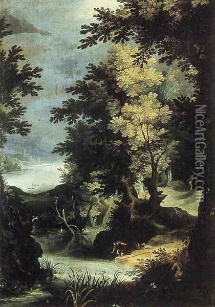 Landscape with a Mythological Scene Oil Painting - Paul Bril