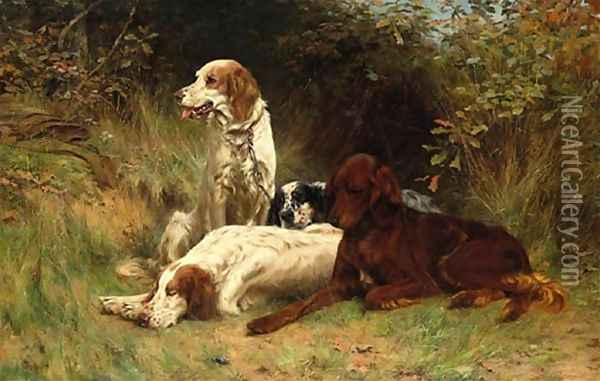 Waiting for the guns 1894 Oil Painting - Thomas Blinks