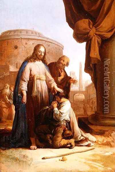 Christ and the Rich Young Ruler, 1640 Oil Painting - Bartholomeus Breenbergh