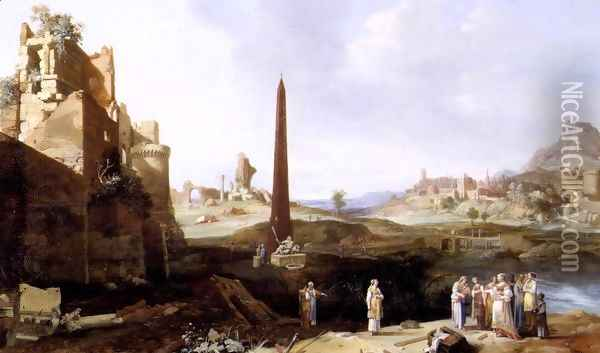 The Finding of Moses 1639 Oil Painting - Bartholomeus Breenbergh