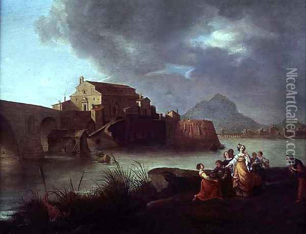 The Finding of Moses Oil Painting - Bartholomeus Breenbergh