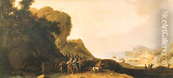 A coastal landscape with Saul after the Conversion Oil Painting - Bartholomeus Breenbergh