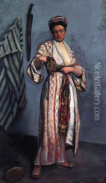 Mauresque Oil Painting - Jean Frederic Bazille