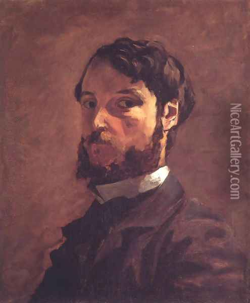 Self-Portrait Oil Painting - Jean Frederic Bazille