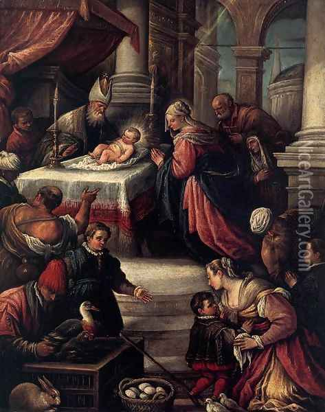 The Presentation of Christ in the Temple Oil Painting - Francesco, II Bassano