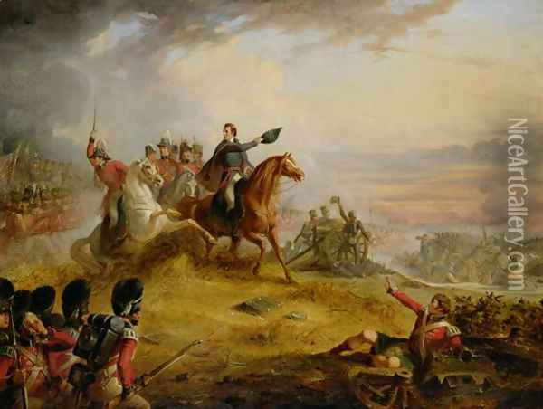 An Incident at the Battle of Waterloo in 1815 Oil Painting - Thomas Jones Barker