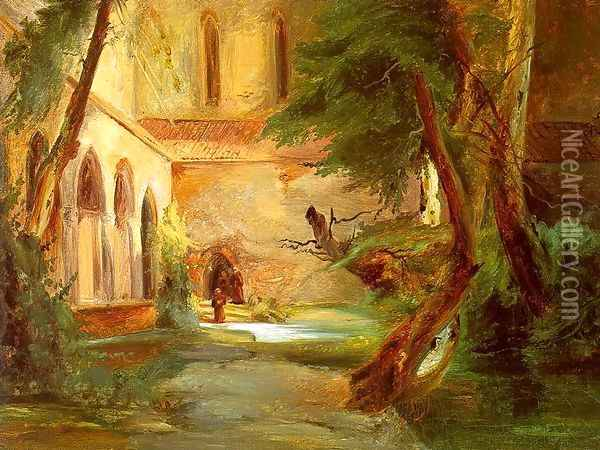 Monastery in the Wood 1835 Oil Painting - Charles Blechen