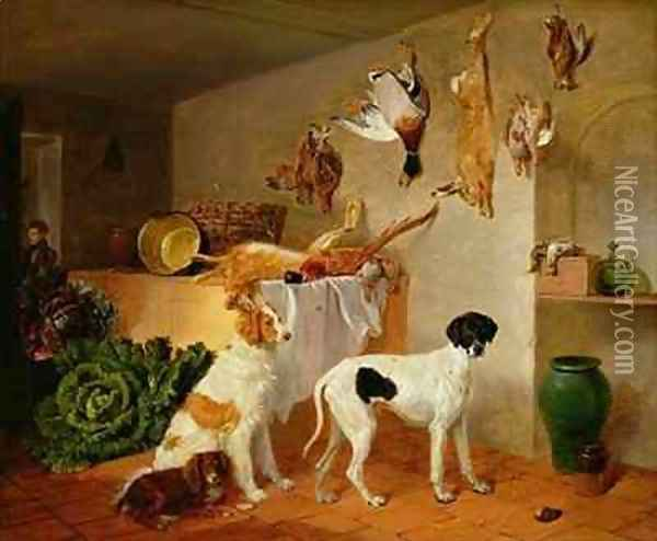 Inside the Game Pantry Oil Painting - Edmund Bristow