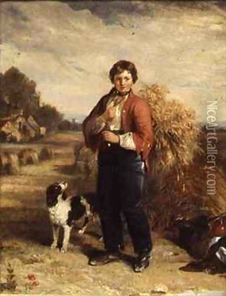 Gleaners Return Oil Painting - Edmund Bristow