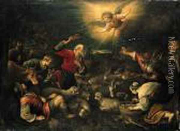 The Annunciation To The Shepherds Oil Painting - Jacopo Bassano (Jacopo da Ponte)