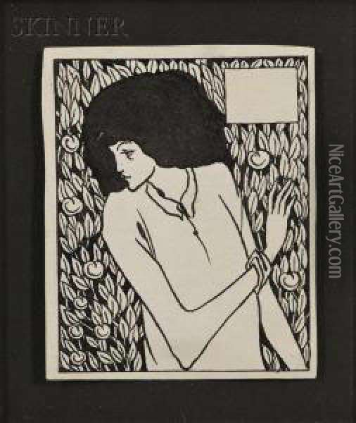Chapter Heading, Lxiv Oil Painting - Aubrey Vincent Beardsley