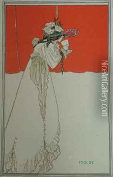 Isolde Oil Painting - Aubrey Vincent Beardsley