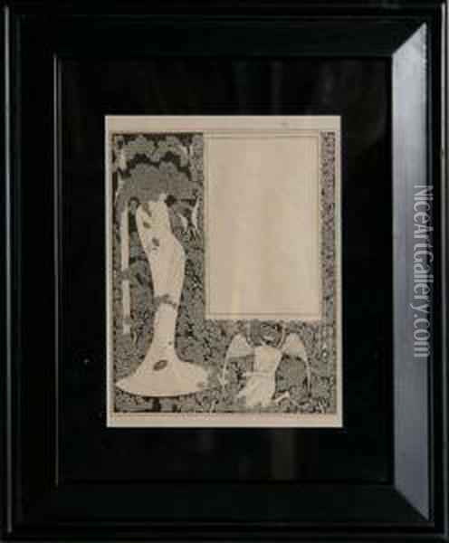 Untitled Oil Painting - Aubrey Vincent Beardsley