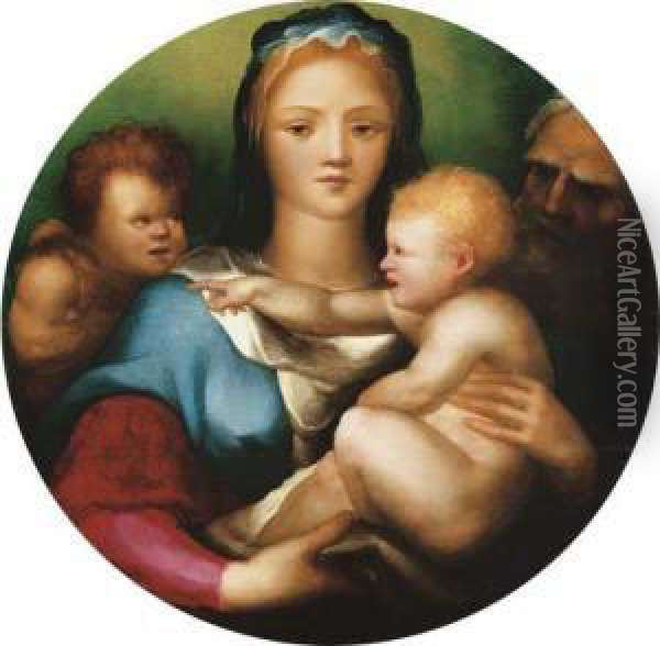 The Holy Family With Saint John The Baptist Oil Painting - Domenico Beccafumi