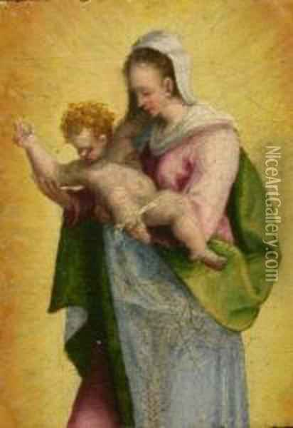 Madonna And Child Oil Painting - Domenico Beccafumi