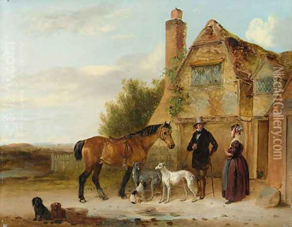 Setting off for the Morning Ride Oil Painting - Edmund Bristow