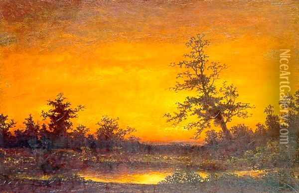 Twilight Oil Painting - Ralph Albert Blakelock