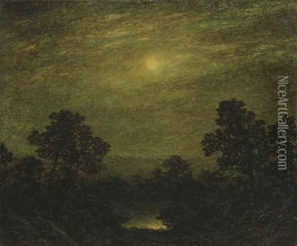 Moonlight 3 Oil Painting - Ralph Albert Blakelock