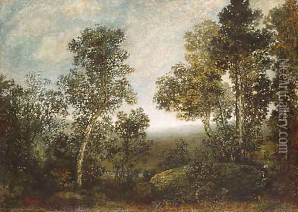 Landscape 1885 Oil Painting - Ralph Albert Blakelock