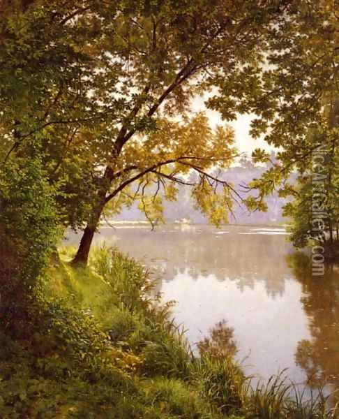 From the Water's Edge Oil Painting - Henri Biva