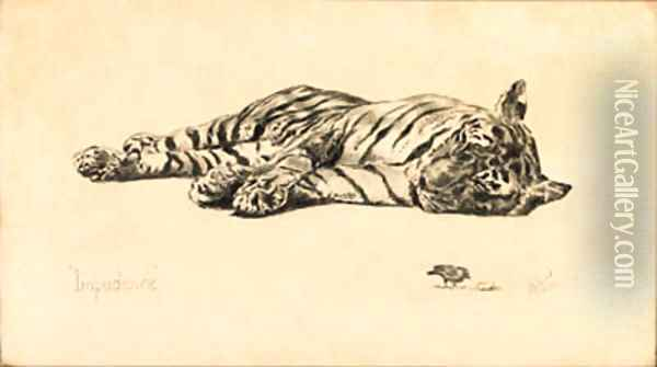 Impudence - Tiger Oil Painting - Rose Barton