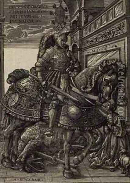 St. George and the Dragon Oil Painting - Hans Burgkmair the elder