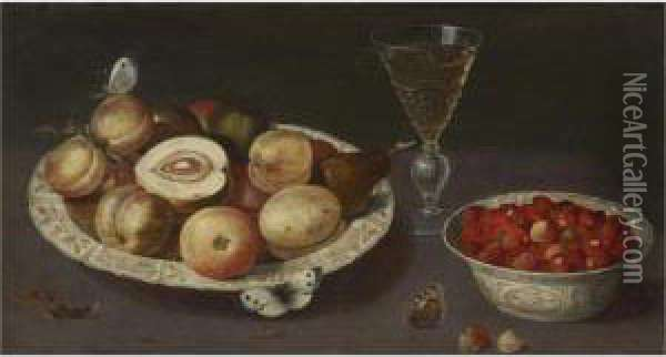Still Life Of Peaches, Pears And