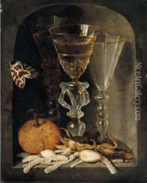 A Still Life Of Three Wine 