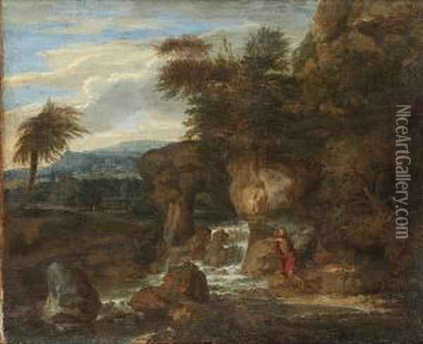 Saint Jerome In The Wilderness Oil Painting - Joachim-Franz Beich