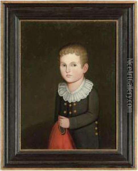 Portrait Of A Young Blond Boy In