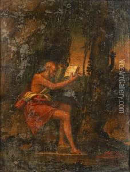 Saint Jerome In The Wilderness Oil Painting - Giovanni Bellini