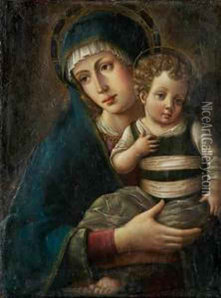 Madonna And Child Oil Painting - Giovanni Bellini
