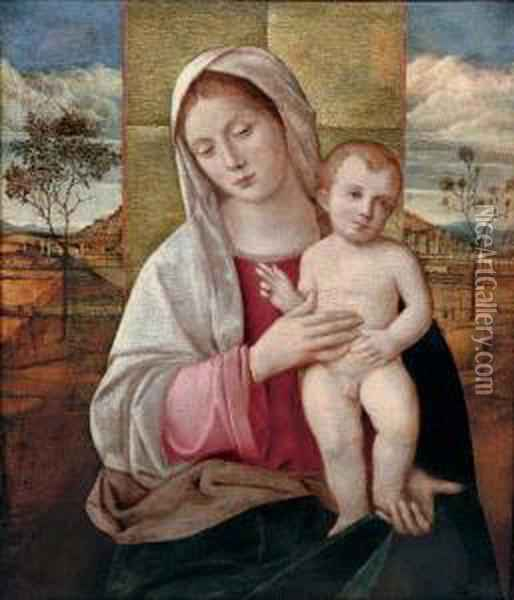 The Madonna And Child Oil Painting - Giovanni Bellini