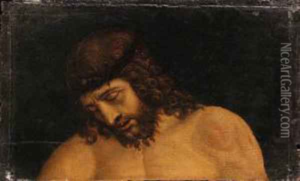The Head Of Christ Oil Painting - Giovanni Bellini
