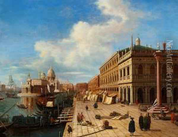 View Of Venice Oil Painting - Bernardo Bellotto